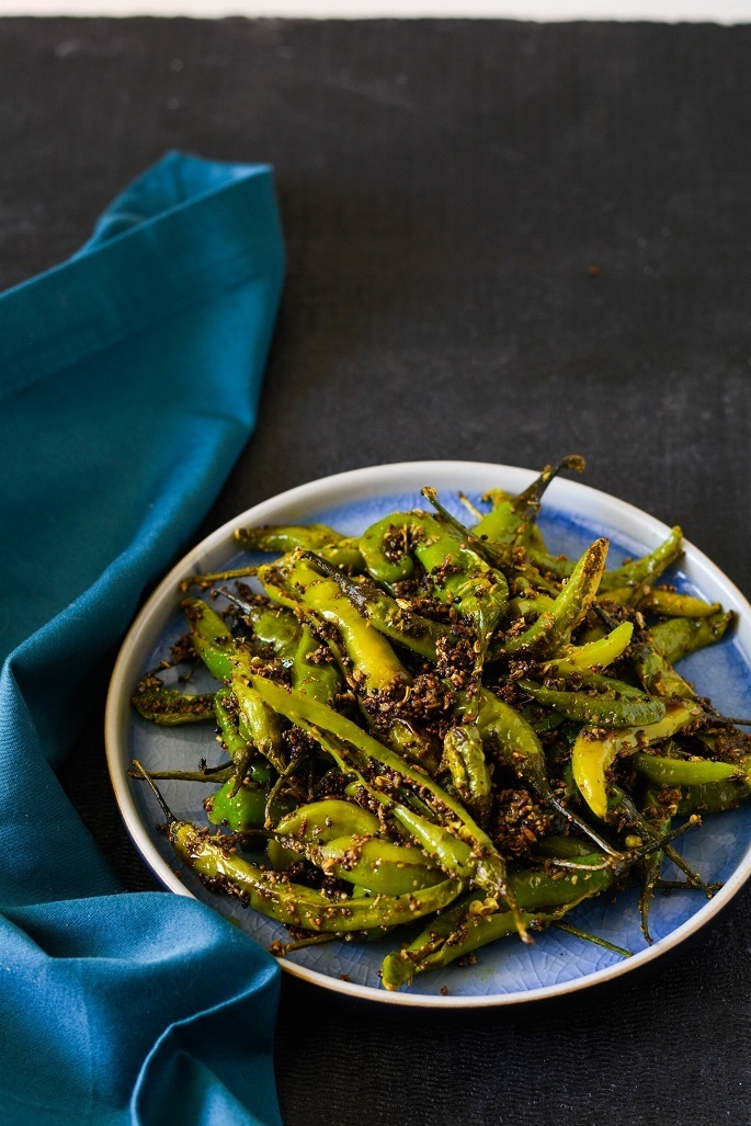 Green Chili Fry, Chukki Hari Mirch
