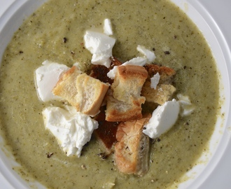 Broccoli Soup With Crispy Croutons & Goat's Cheese. New Music From The WINTYR.
