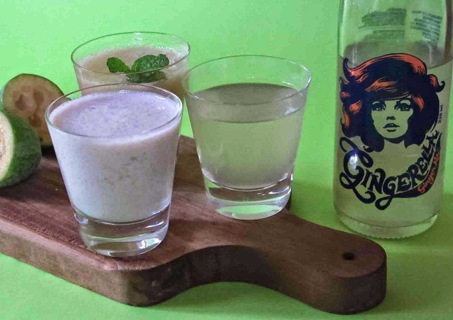Feijoa and and Gingerella  Smoothies