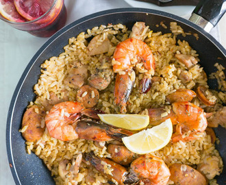 Chicken, Chorizo and Prawn Paella (Gordon Ramsay)
