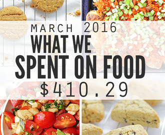 Food Prices and What We Spent on Groceries: March 2016