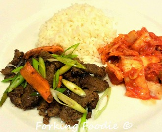 Bulgogi - Korean Barbequed Beef (includes Thermomix instructions)