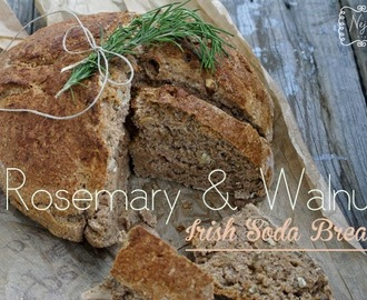 Rosemary & Walnut Irish Soda Bread + Bread spread with wild garlic / Irski kruh z rožmarinom in orehi + Namaz s čemažem