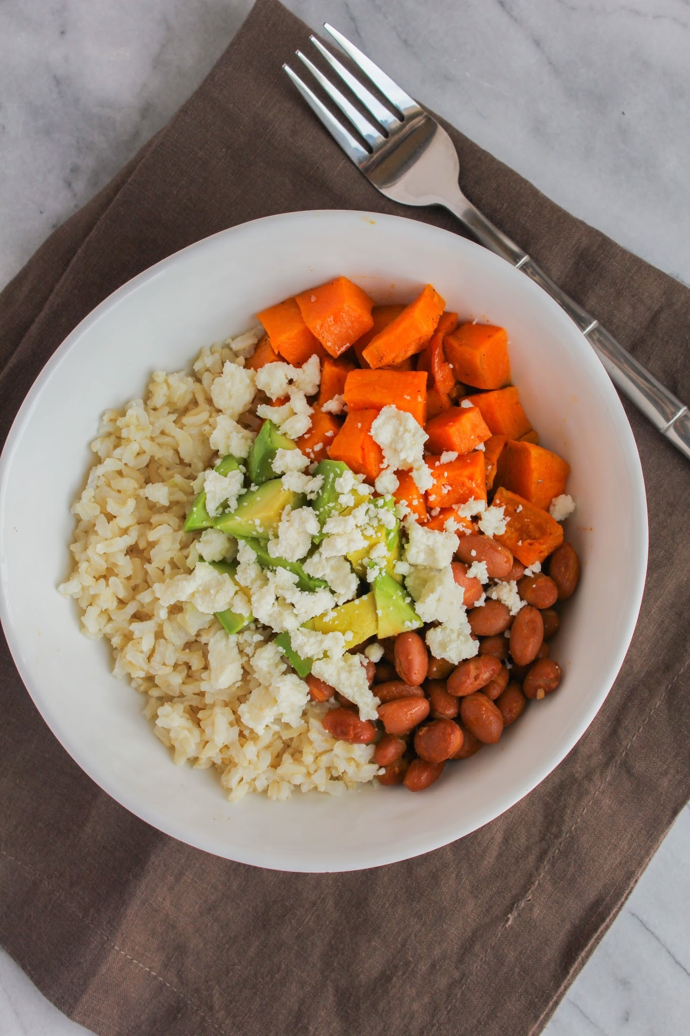 Sweet Potato and Brown Rice Bowls