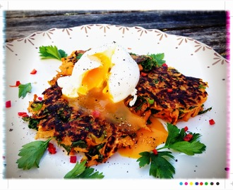 Bookshelf:Emma's Kumara & Kale Latkes with Poached Eggs, from My Darling Lemon Thyme - Recipes from my Real Food Kitchen