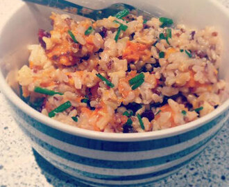 Roast Sweet Potato, Cranberry, Rice & Quinoa Salad