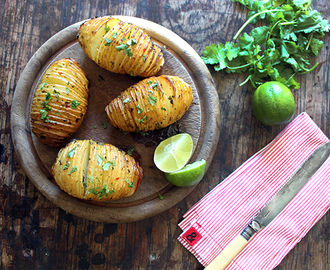 Hassleback Potatoes with Chilli and Lime Butter
