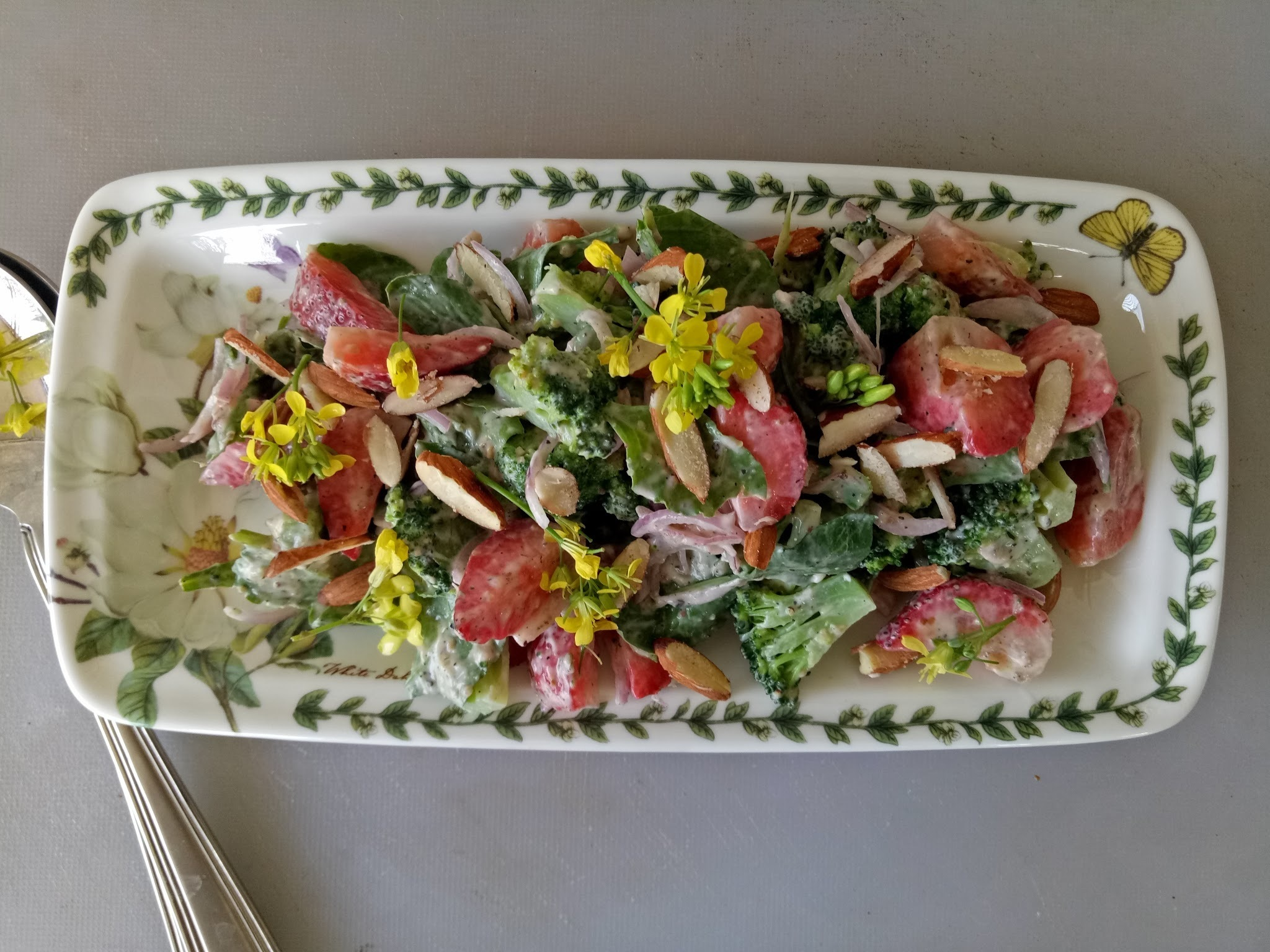 Broccoli & Strawberry Salad With Sweet Bavarian Mustard Dressing