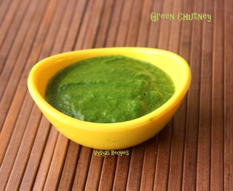 Green Chutney for Chaat - Easy  Green Chutney for Sandwitches & Snacks