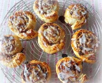 Lemon, Fruit and Nut Breakfast Scrolls