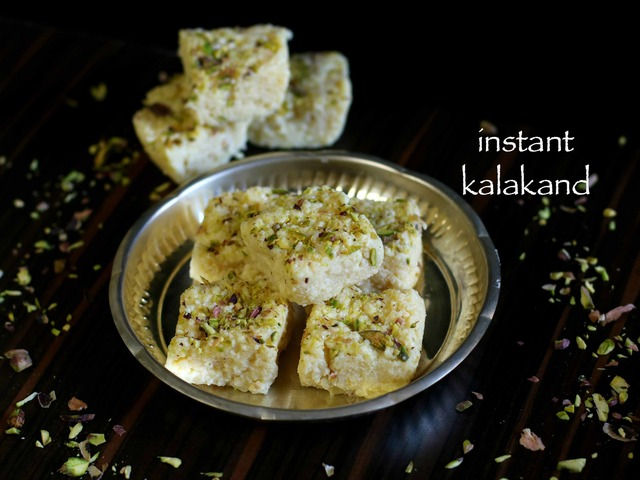 kalakand recipe | how to make instant kalanda recipe with milkmaid