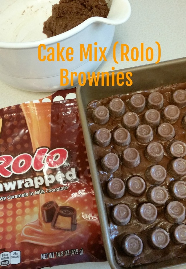 Cake Mix (Rolo) Brownies {New Recipe}