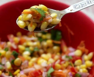 Corn Chat Masala Recipe, How to make Corn Chat
