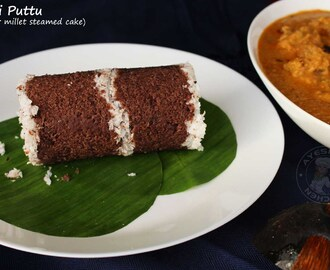 SOFT AND PERFECT RAGI PUTTU RECIPE - FINGER MILLET STEAMED CAKE