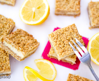 Delicious Lemon Cream Crumble Bars