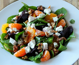 Spinach, Orange & Goat Cheese Salad