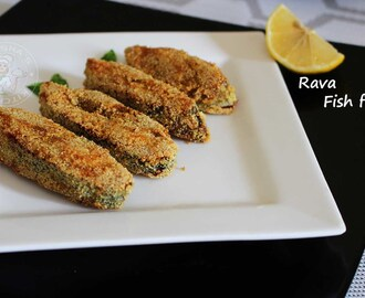RAVA FISH FRY RECIPE - FRIED FISH RECIPE