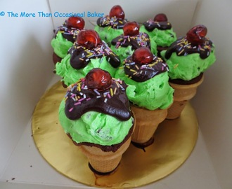 Chocolate and Mint Ice Cream Cupcakes