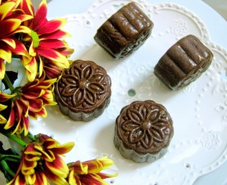 巧克力莲蓉月饼 Baked Chocolate Mooncakes