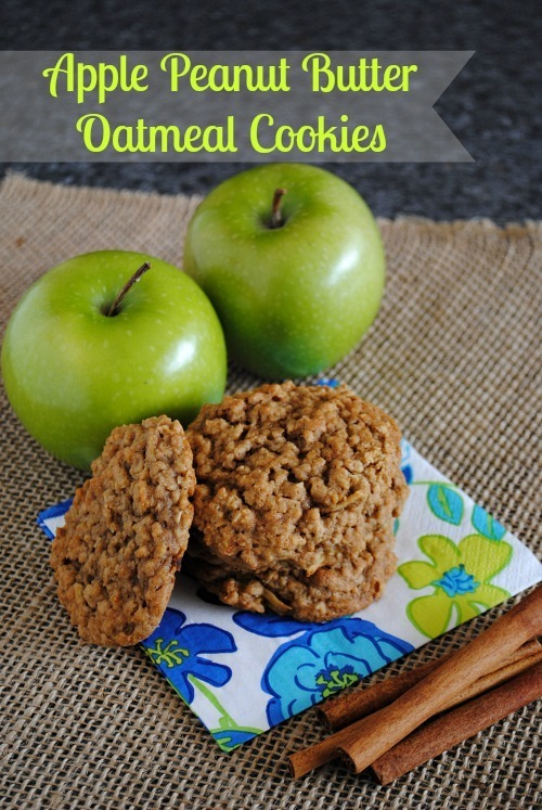 Apple Peanut Butter Oatmeal Cookies