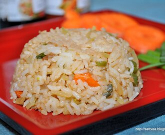 Vegetable fried rice - a continental favorite