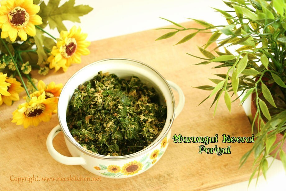Murunga Keerai Poriyal | Moringa Leaves Curry