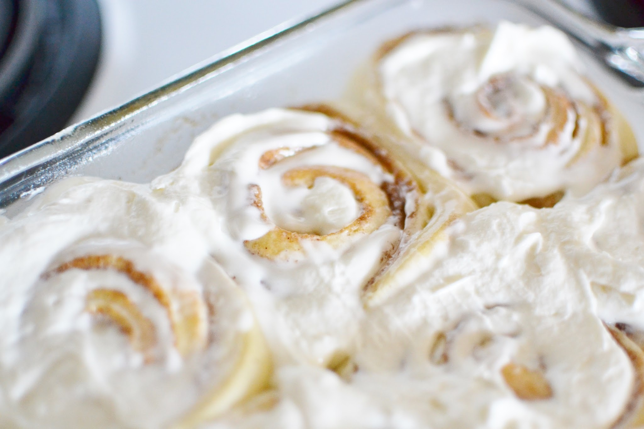 Cinnabon Cinnamon Rolls with Whipped Cream Cheese Frosting