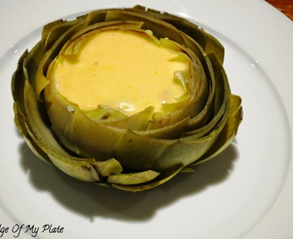 Artichokes with Hollandaise Sauce