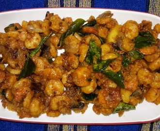 Andhra style Prawns shallow Fry