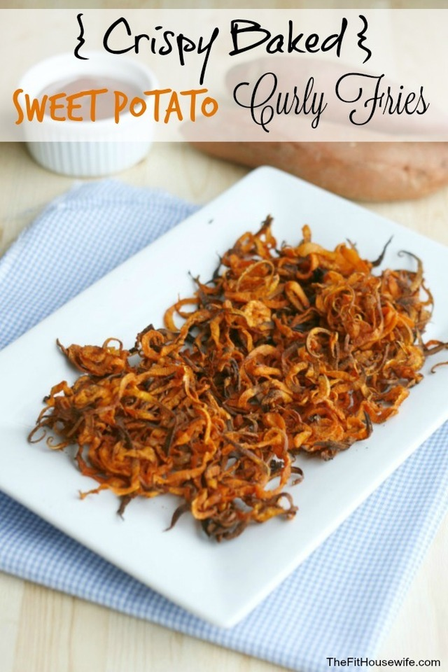 Crispy Baked Sweet Potato Curly Fries