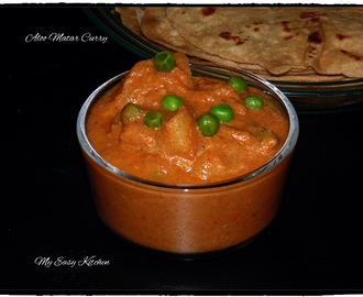 Aloo Matar Curry - How to make aloo-matar gravy/potato-peas gravy