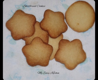 Shortbread cookies / Basic Shortbread Cookies Recipe / Easy Eggless Vanilla Cookies