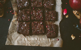 Pomegranate Caramel Brownies