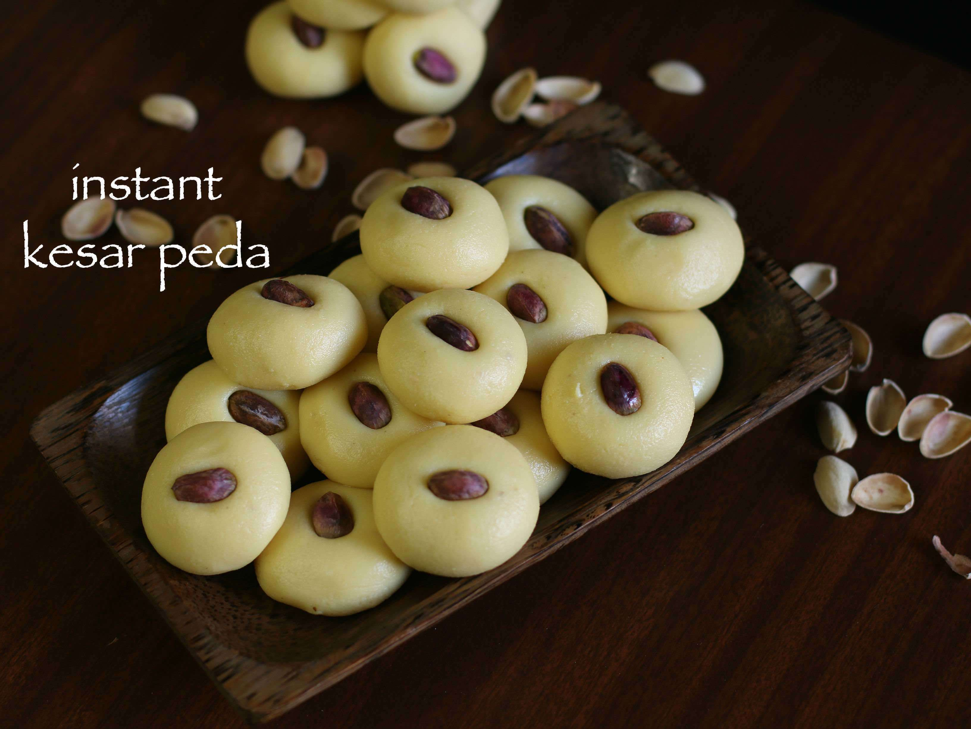 peda recipe | instant kesar peda recipe | kesar milk peda with milkmaid