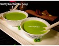 Fresh green peas soup