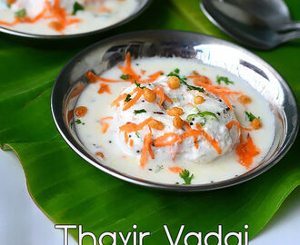 Thayir Vadai Recipe – South Indian Curd Vada