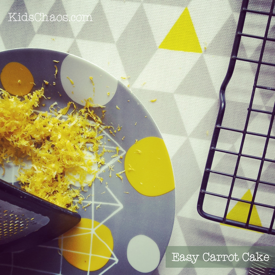 Carrot Cake recipe with Lemon Icing