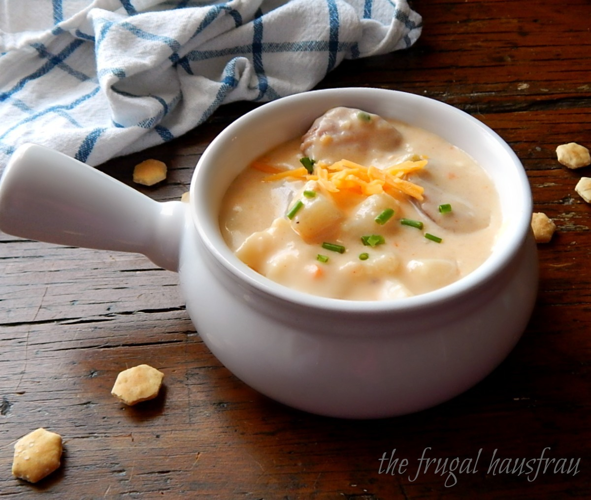 Cheesy Potato Sausage Soup – Instant Pot or Stove-top