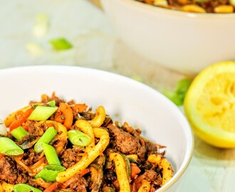 Low Fat Korean Crispy Beef With Noodles