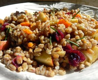 Sweet Potato & Cranberry Farro Salad