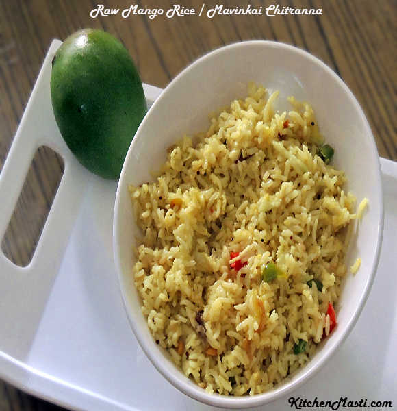 Raw Mango Rice / Mavinkai Chitranna Recipe