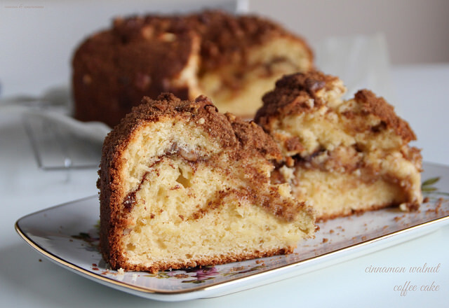 Cinnamon Walnut Coffee Cake