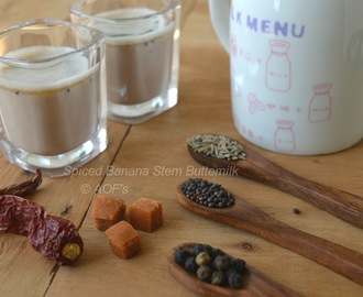 Spiced Banana Stem Buttermilk ( A digestive Summer drink )
