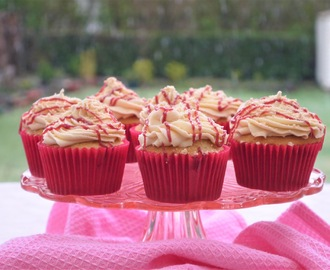 Peanut Butter and Raspberry Jam Cupcakes.