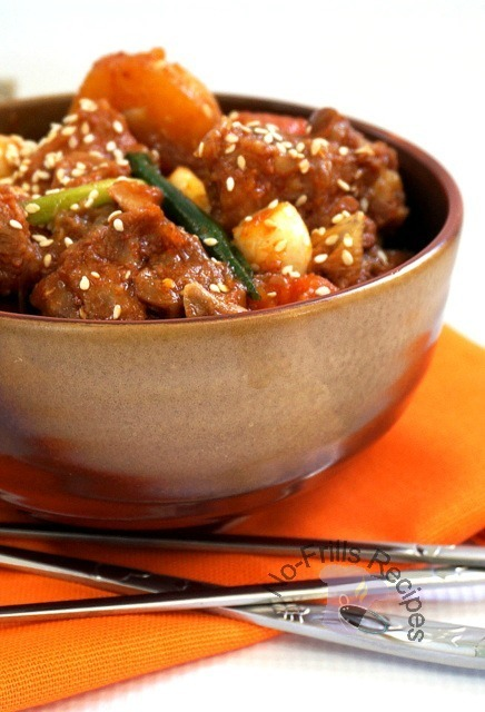 Chicken Stew with hot and spicy Korean sauce
