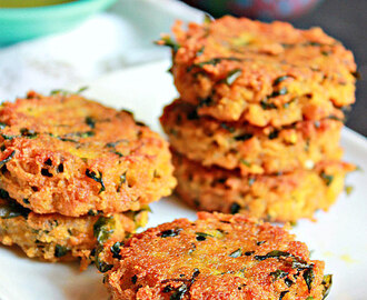 Aloo Paneer Tikkis, Potato Cottage Cheese Patties