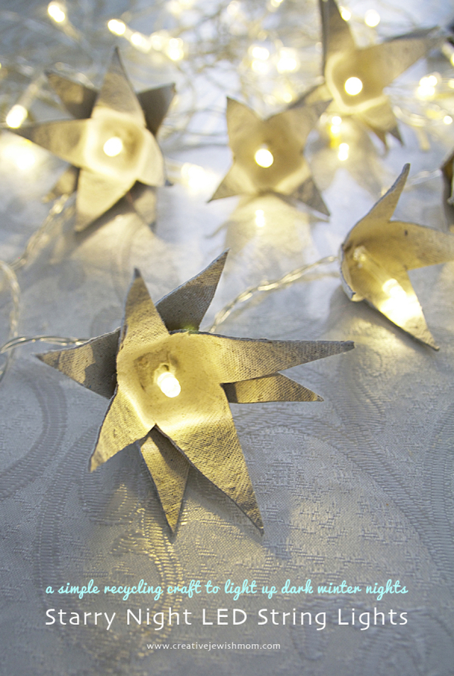 DIY Star String Lights Using Egg Cartons!