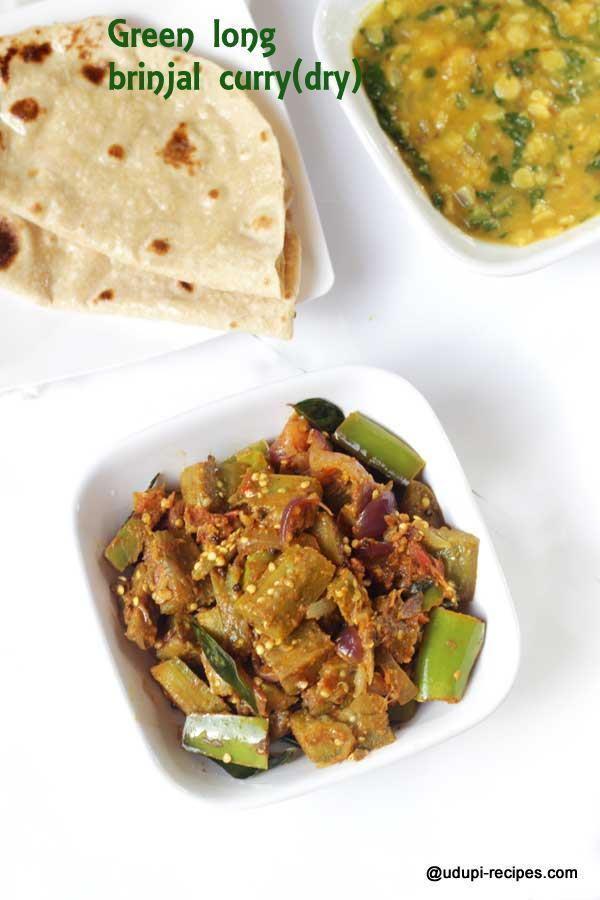 Long Brinjal Curry (dry) | Easy Chapati Side Dish
