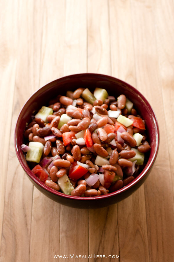 Kidney Bean Salad with Vinaigrette Dressing- How to make Kidney Bean Salad – Rajma Salad