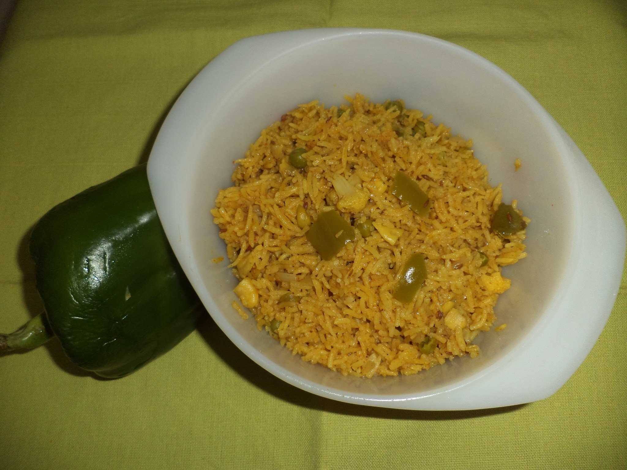 CAULIFLOWER AND CAPSICUM RICE